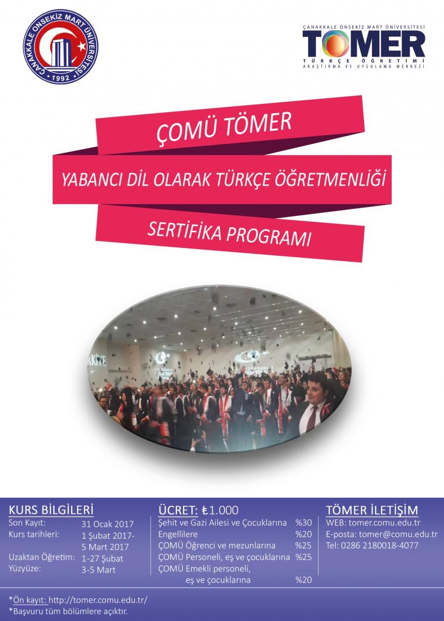 ÇOMÜ TÖMER Yabancı Dil Olarak Türkçe Öğretmenliği Sertifika Programı  - Duyurular - YADOT | Yabancı Dil Olarak Türkçe Eğitim Derneği