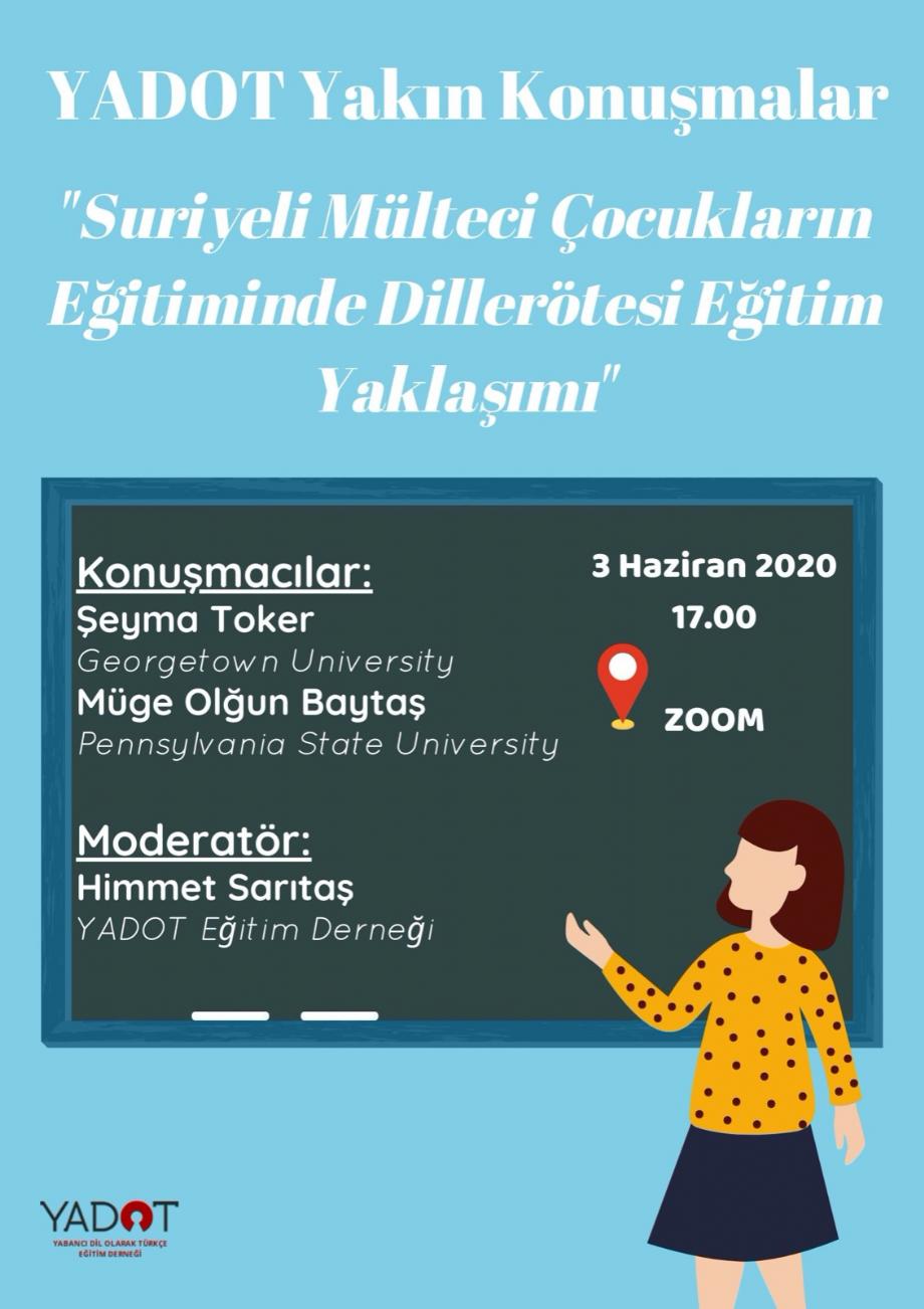 YADOT Yakın Konuşmalar (3) - Etkinlikler - YADOT   Yabancı Dil Olarak Türkçe Eğitim Derneği